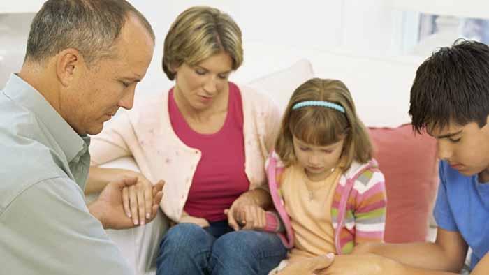 preghiere della sera per la famiglia